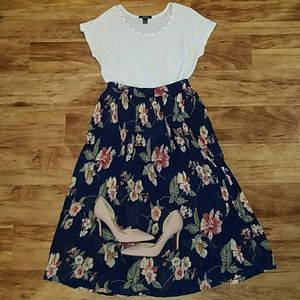 Long flowing flower skirt